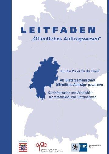 """Leitfaden """"Öffentliches Auftragswesen"""""""
