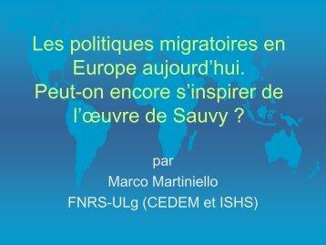 Présentation de Marco Martiniello - Conseil économique et social de ...