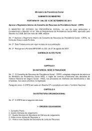 Ministério da Previdência Social GABINETE DO MINISTRO ...
