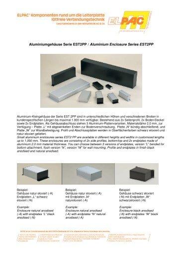 Aluminiumgehäuse Serie EST2PP / Aluminium Enclosure Series ...