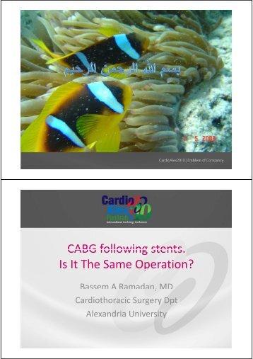 Impact of DES on CABG