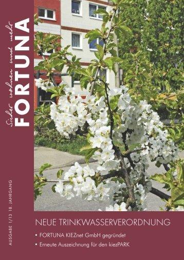 Nr. 01/2013 - FORTUNA Wohnungsunternehmen eG