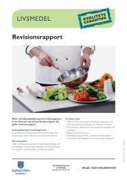Livsmedel, revision.pdf - Upplands Väsby kommun