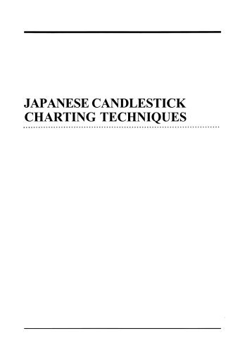 Japanese candlesticks charting techniques