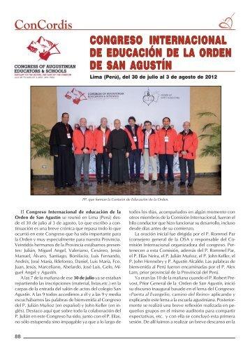 ConCordis - Provincia de España, Orden de San Agustín
