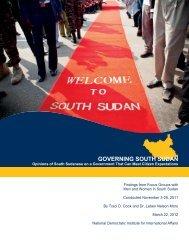 GOVERNING SOUTH SUDAN - CMI