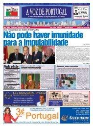 Nesta edição - A Voz de Portugal