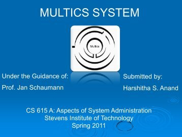 MULTICS SYSTEM - Stevens Institute of Technology