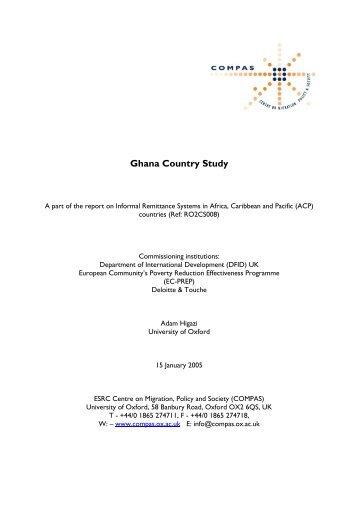 Ghana - COMPAS - University of Oxford