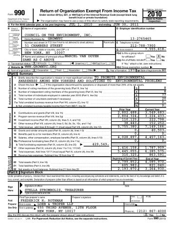 2010 Form 990 - GrowNYC