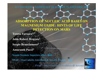 ADSORPTION OF NUCLEIC ACID BASES ON MAGNESIUM OXIDE ...