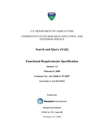 [PDF] One Solution Search and Query Functional Requirements ...