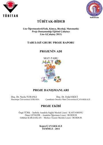 TÜBİTAK-BİDEB - Çanakkale Onsekiz Mart Üniversitesi