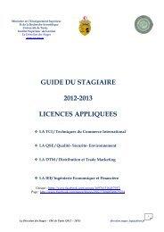 3ème année Licences appliquées - Institut Supérieur de Gestion de ...
