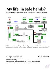 My life: in safe hands - Offender Health Research Network