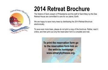 Final Retreat Brochure for 2014