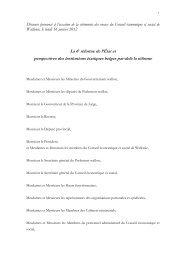 Discours Behrendt Cons éc soc Wall - 2012-01-16 - Conseil ...