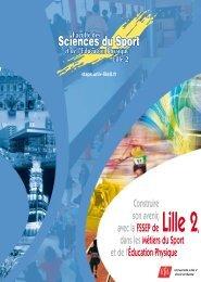 FAC DE SPORT - Université Lille 2 Droit et Santé