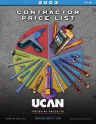 Ucan Fastening Products - Regina Fasteners & Tools Ltd