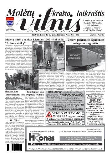 2009 m. kovo 13 d., penktadienis Nr. 20 - 2013 - VILNIS