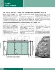 38 CETRIS® Façade Systems 8.9 Railing, Terrace, Loggia and ...