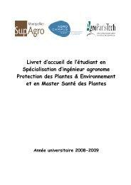 Livret accueil 08-09 - Montpellier SupAgro