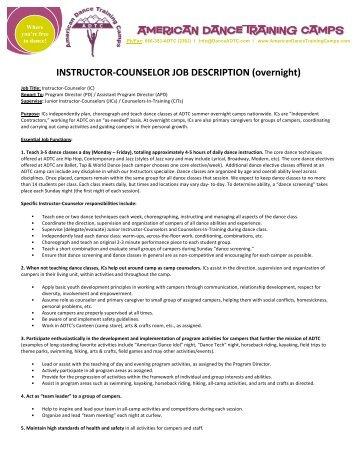 Dance Instructor Job Description Teacher Job Description For