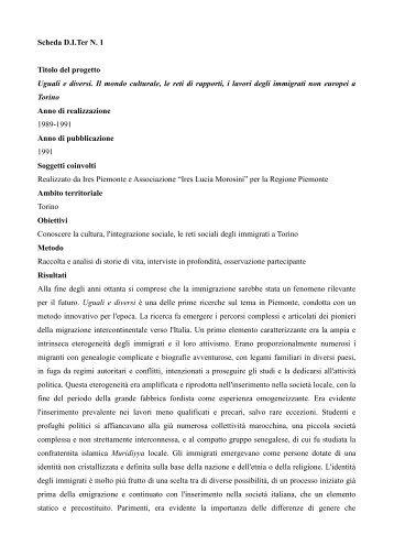 I lavori degli immigrati non europei a Torino - Integrazione Migranti