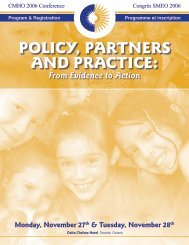 policy, partners and practice - Children's Mental Health Ontario