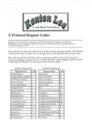 X Protocol Request Codes