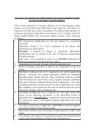 Vacancy of Asstt. Director of Tea Development to be filled up by ...