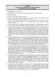 Usnesení z 8. zasedání Zastupitelstva města Jevíčka ... - Jevíčko