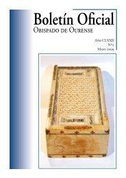 Boletín Oficial del Obispado de Ourense - Mayo 2009