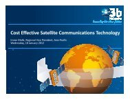 Cost Effective Satellite Communications Technology