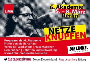 Programmheft zum downloaden (PDF, 9 MB) - LiMA – Akademie für ...