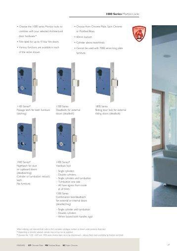 1000 Series Mortice Locks - Door Hardware Sydney
