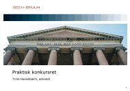 Praktisk konkursret - Bech-Bruun