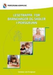 Lesetrappa for barnehager og skoler - Porsgrunn Kommune