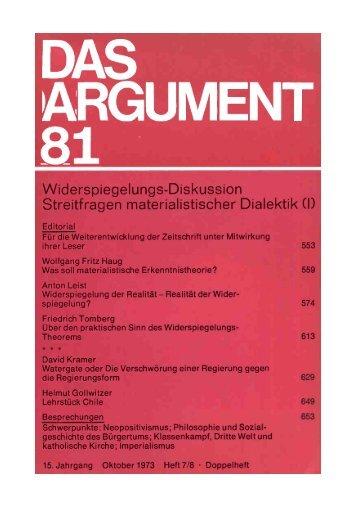 das argument 81 - Berliner Institut für kritische Theorie eV