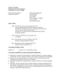 Full curriculum vitae - SUNY Cortland