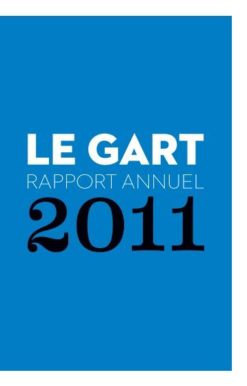 Rapport Annuel 2011 du GART