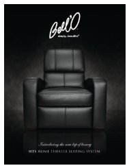 bell'o international corp. hts-100 series home theater seating system