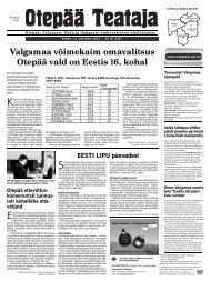 Valgamaa võimekaim omavalitsus Otepää vald on Eestis 16. kohal