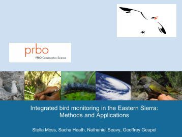 Integrated bird monitoring in the Eastern Sierra: Methods and ...