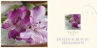 HEALTH & BEAUTY TREATMENTS - Warner Leisure Hotels Breaks