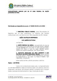 Belo Monte - cautelar condicionantes - MPF