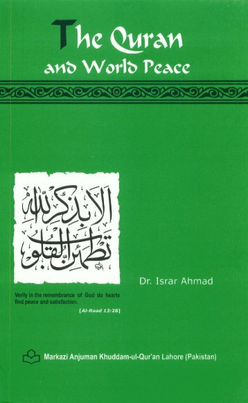 The Quran and World Peace - scholaris - the doorway to islamic ...