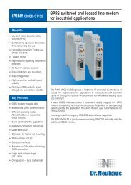 GPRS switched and leased line modem for industrial applications