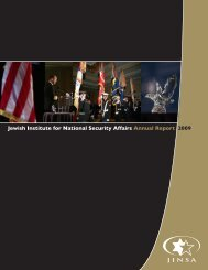 Jewish Institute for National Security Affairs Annual Report ... - JINSA