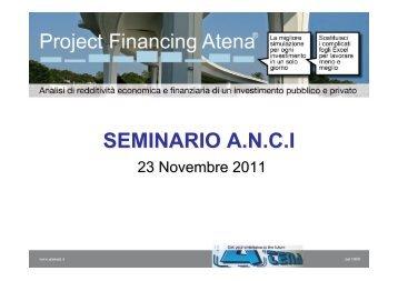PFA 2011- Seminario Ancitel - RisorseComuni